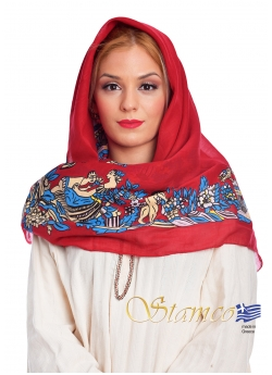 Traditional Cotton Scarf of Doxato - Dramas