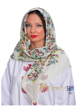 Traditional Cotton Scarf of Attica - Αthens