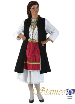 Traditional Dress Epirus Black Vest