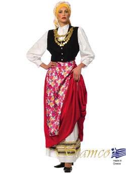 Traditional Dress Cephalonian Woman