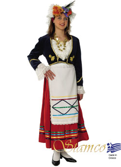 Traditional Dress Corfu Woman