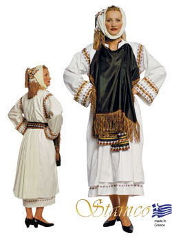 Traditional Dress Xios Pyrgi Woman
