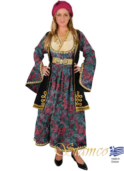 Traditional Dress Epirus Brocade Gray