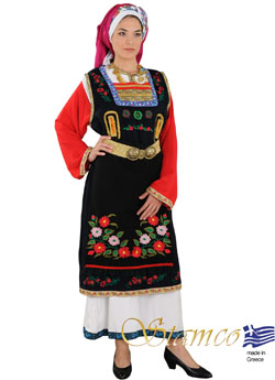 Traditional Dress Thrace Woman Embroid