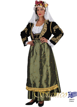 Traditional Dress Corfu Kerkira Embr.