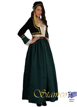 Traditional Dress Amalia Green Brocade