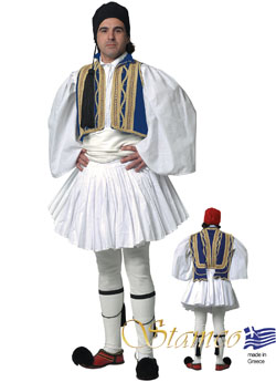 Traditional Dress Evzonas Man Blue