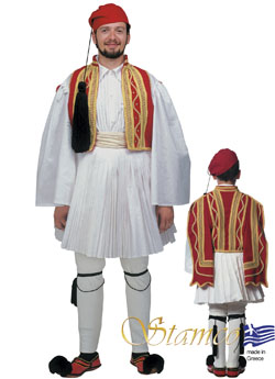Traditional Dress Evzonas Man Red