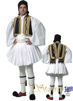Traditional Dress Evzonas Man Black