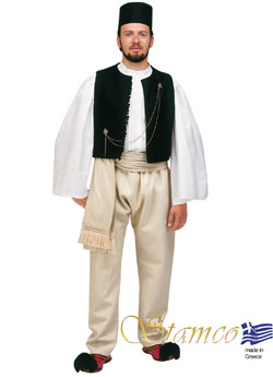 Traditional Dress Epirus Man Black Ves