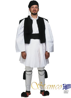 Traditional Dress Tsolias Man Black