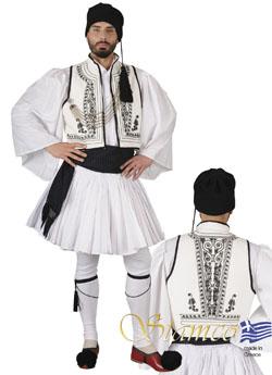 Traditional Dress Fustanela White Vest