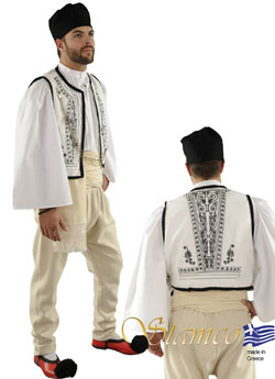 Traditional Dress Epirus White Vest