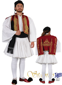 Traditional Dress Fustanela Metsovo