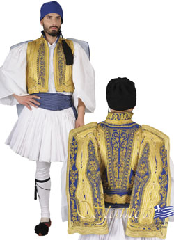 Traditional Dress Euzonas Gold Embroid