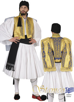 Traditional Dress Euzonas Gold Emroide