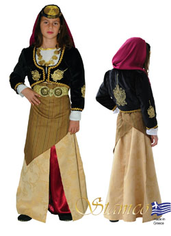 Traditional Dress Pontos Girl Embroidered