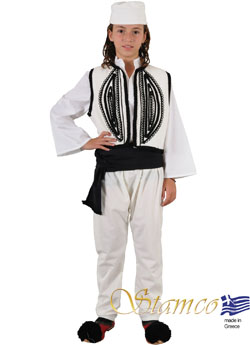 Traditional Dress Epirus Boy White