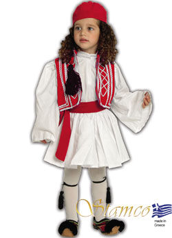 Traditional Dress Tsolias Boy Red