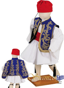 Traditional Dress Tsolias Baby Embroid
