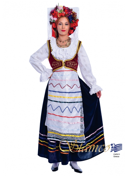 Greek Traditional Dress Corfu Kerkyra Woman