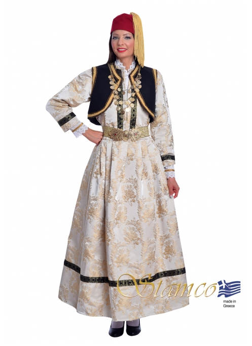 Traditional Kastoria Dress with Embroidered Vest