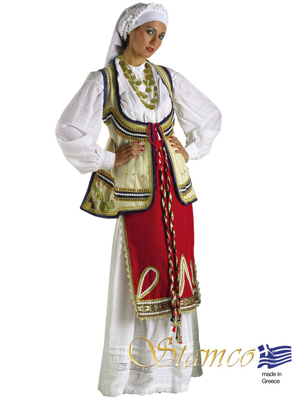 Traditional Dress Roumeli Woman