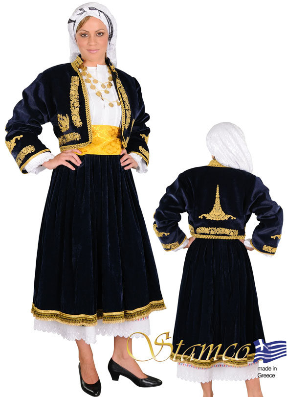 Traditional Dress Cyclades Embroidery