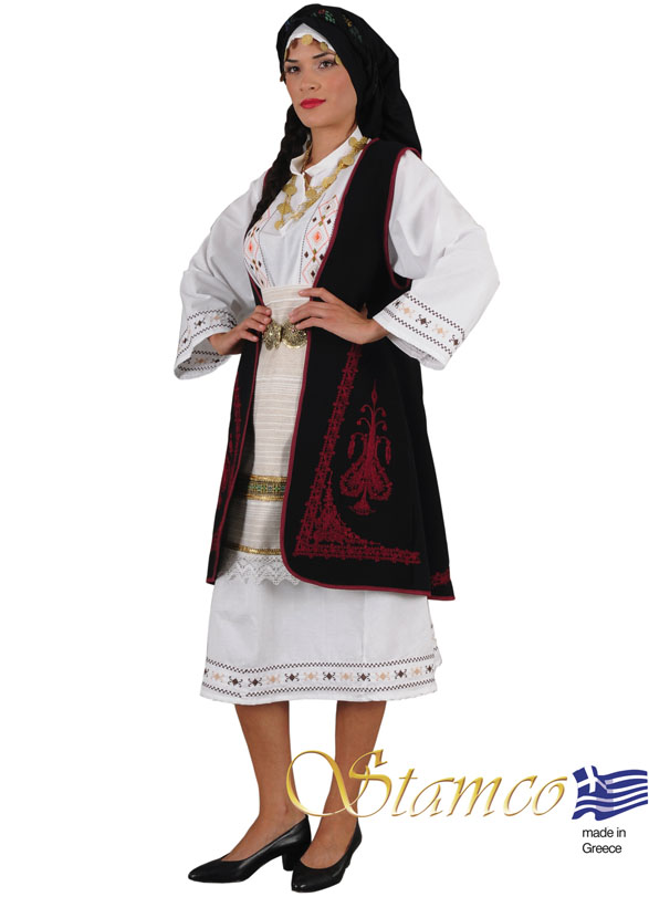 Traditional Dress Souliotisa Embroider