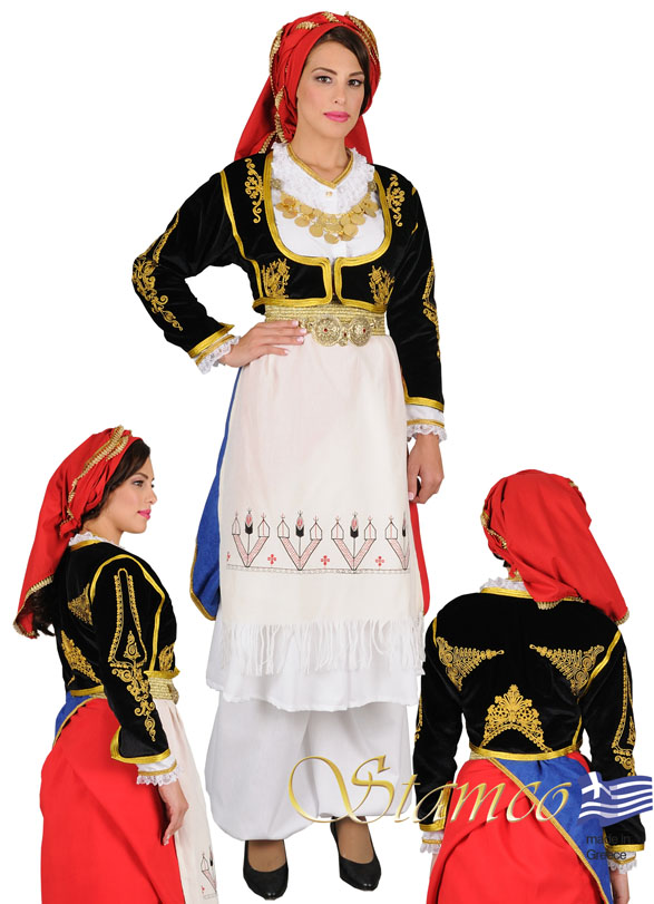 Traditional Dress Crete Embroidered