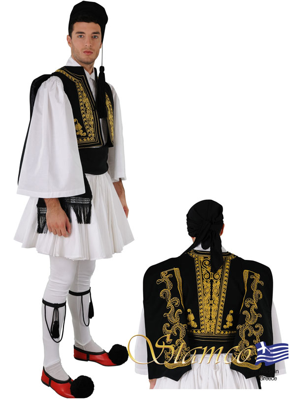 Traditional Dress Fustanella Black Ves