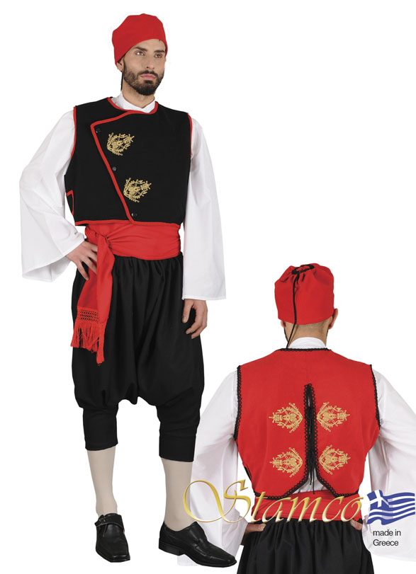 Traditional Dress Cyclades With Embroidery
