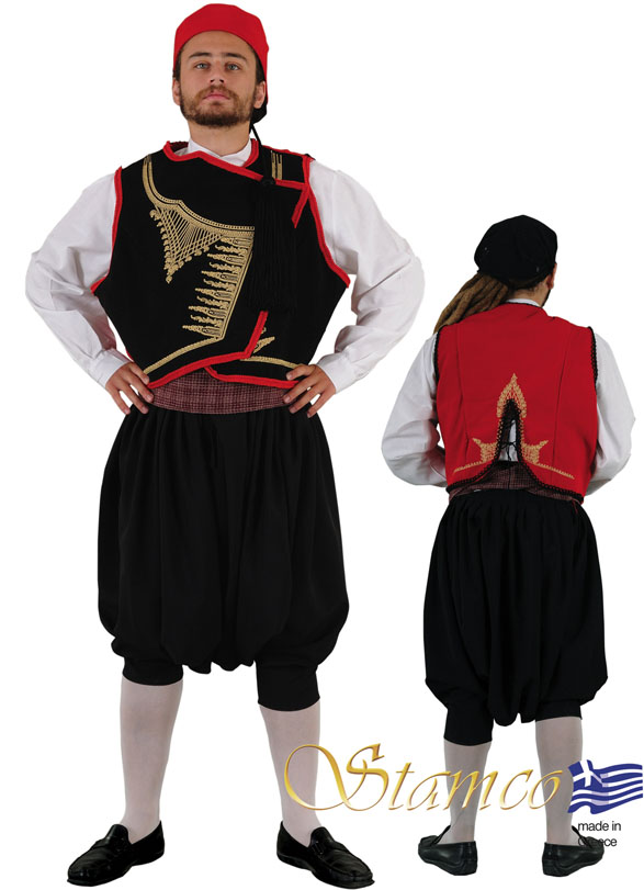 Traditional Dress Cyclades Man Embroidered