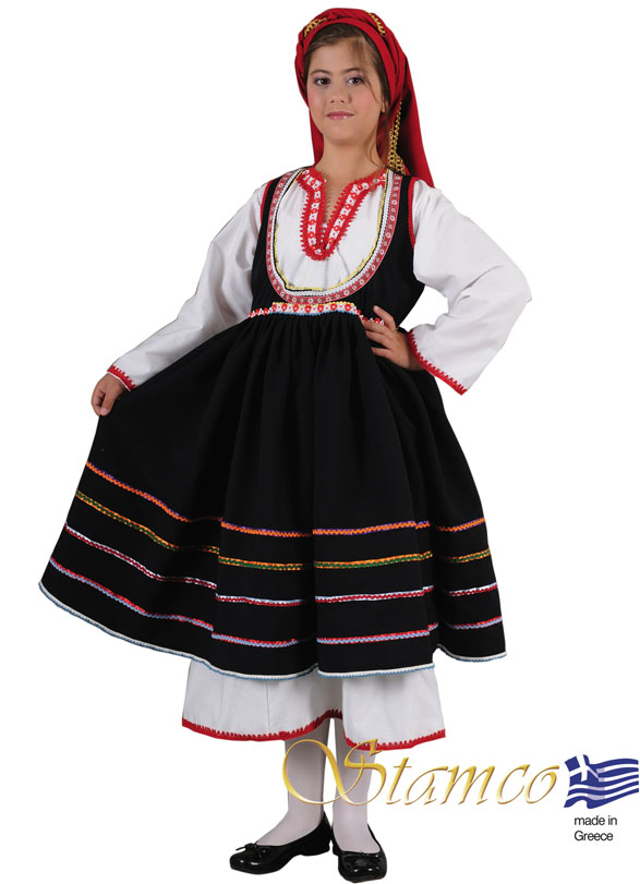 Traditional Dress Embonas Rhodes Islan