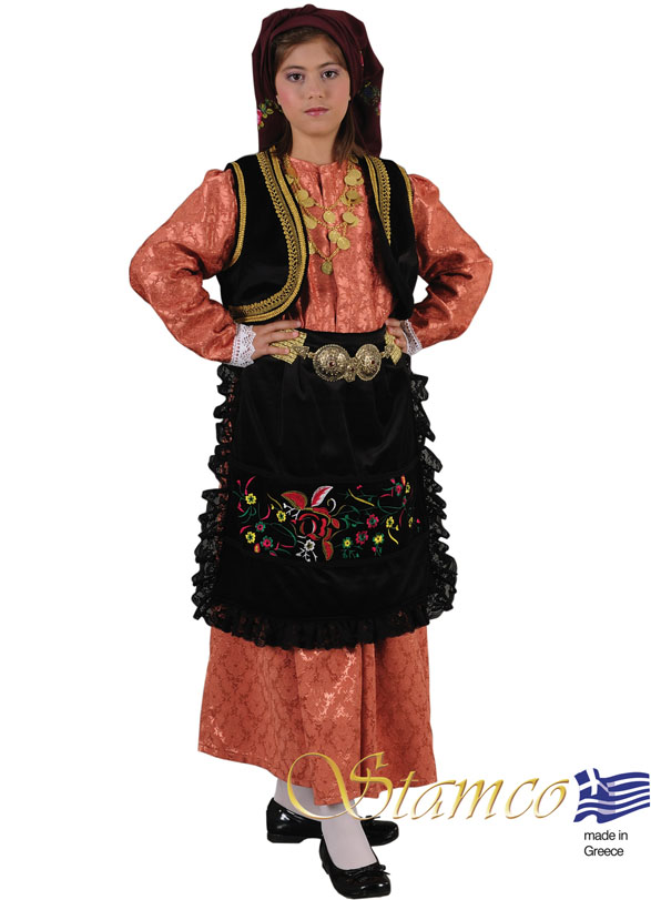 Traditional Dress Epirus Brocade Girl