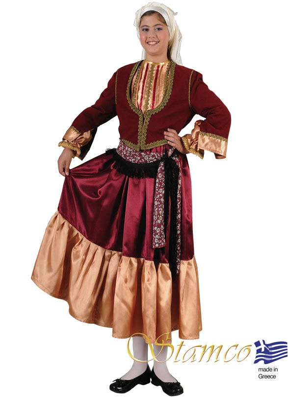 Traditional Dress Aegean Island Girl